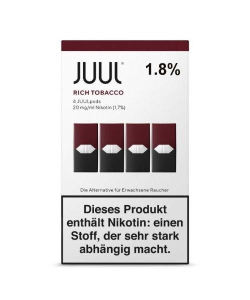 Juul Rich Tobacco Pod %1.8 podfiyat.com Stoklarında